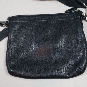 Coach Bags - Coach Black Leather Crossbody Bag